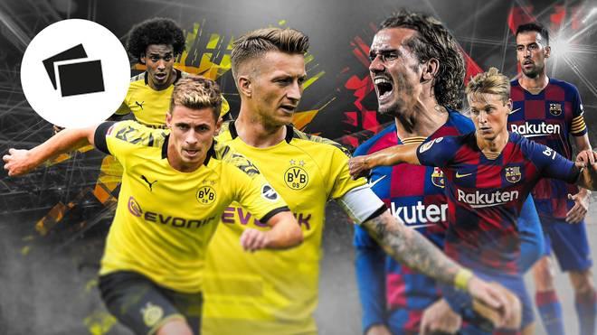 Borussia Dortmund und der FC Barcelona im direkten Vergleich