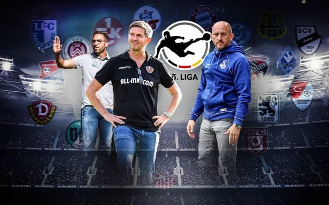 Boris Schommers (l.) und Torsten Lieberknecht (r.) wollen mit ihren Klubs ein Wörtchen um den Aufstieg mitreden