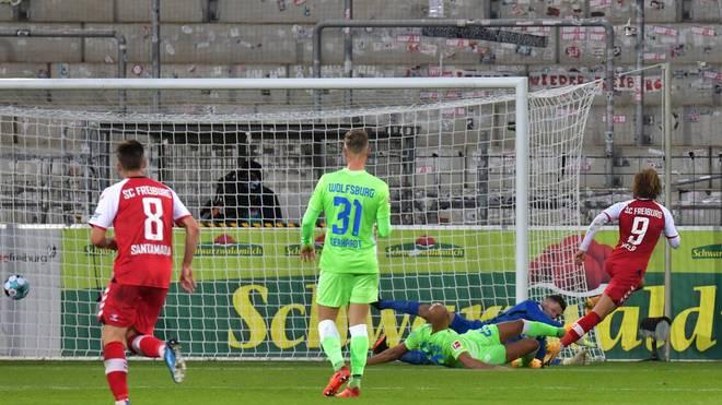 Lucas Höler hatte die größte Chance für Freiburg