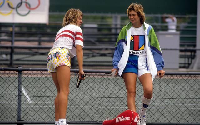 Claudia Kohde-Kilsch (r.) gewann 1988 Olympia-Bronze mit Steffi Graf in Seoul