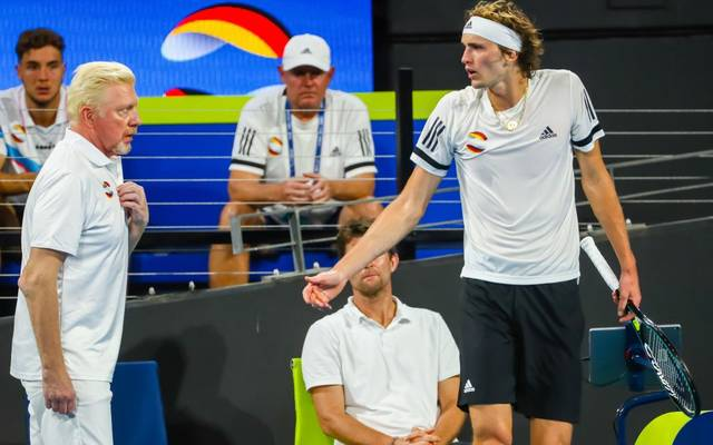 Alexander Zverev (r.) leistet sich beim ATP Cup diverse Ausraster