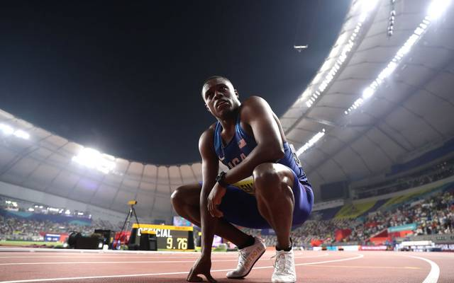 100-m-Weltmeister Christian Coleman droht das Olympia-Aus
