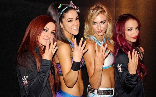 Becky Lynch, Bayley, Charlotte Flair und Sasha Banks (v.l.) sind die Four Horsewomen von WWE
