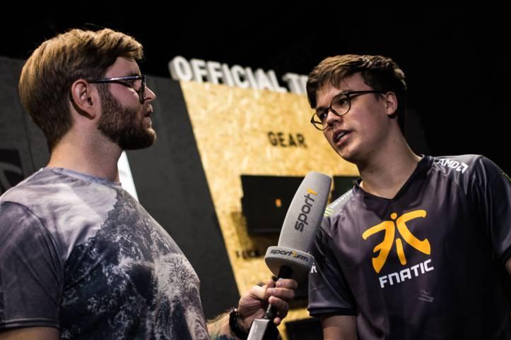 Jesiz von Fnatic stellte sich den Fragen von SPORT1-Reporter Denis Heil.