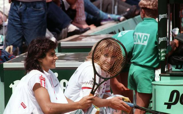 Gabriela Sabatini und Steffi Graf waren oft Doppelpartnerinnen