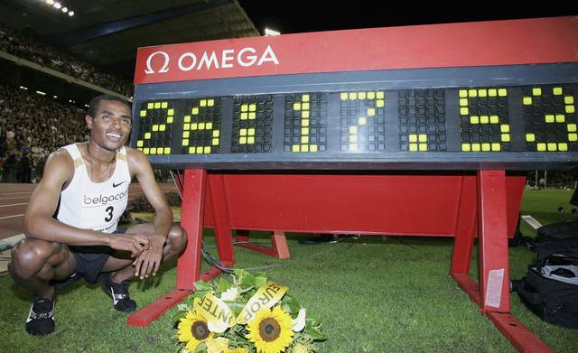 Kenenisa Bekele vor seiner Weltrekordzeit