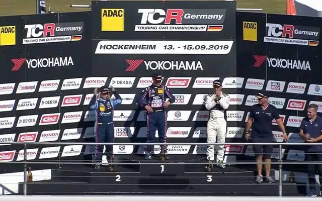 Das Podium von Hockenheim in der ADAC TCR Germany Serie