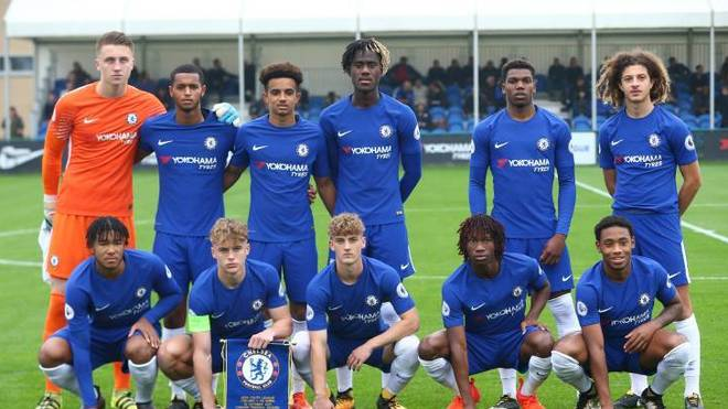 Die U19 des FC Chelsea 2017 in der Youth League