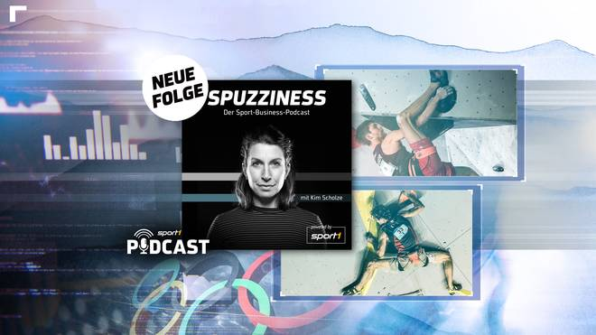 "Das Cover des Podcasts ""Spuzziness. Der Sportbusiness Podcast mit Kim Scholze"""