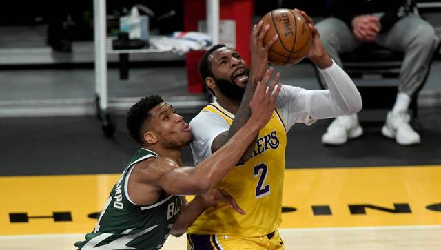 Andre Drummond (r.) hat sich nach seinem Buyout den Los Angeles Lakers angeschlossen