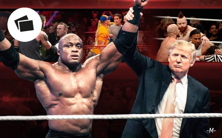 Donald Trump, Lewis Hamilton, Mickey Rourke, Muhammed Ali: Wrestling ist nicht nur eine Bühne für Muskelmänner - es lockt auch immer wieder Prominente aus Sport- und Showgeschäft an. SPORT1 blickt auf die verrücktesten Auftritte zurück