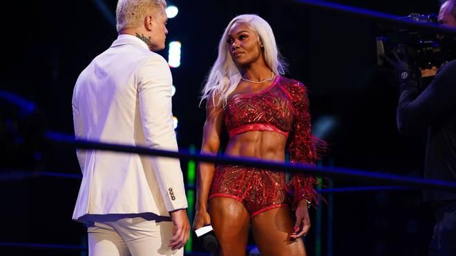 Jade Cargill legte sich bei AEW Dynamite mit Cody Rhodes an