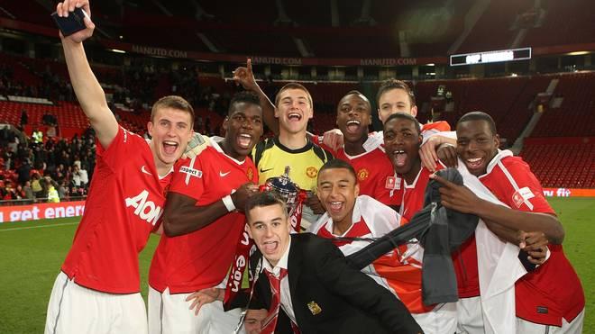 John Cofie (5.v.l.) durchlief die Jugendabteilung von Manchester United