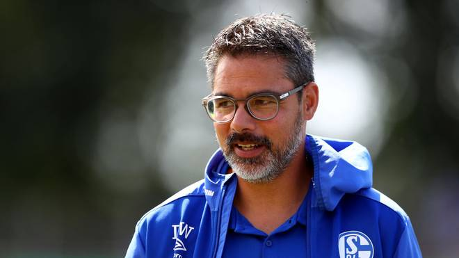 DROCHTERSEN, GERMANY - AUGUST 10: David Wagner, head coach of Schalke looks on before the DFB Cup first round match between SV Drochtersen Assel and FC Schalke 04 at Kehdinger Stadion on August 10, 2019 in Drochtersen, Germany. (Photo by Martin Rose/Bongarts/Getty Images)