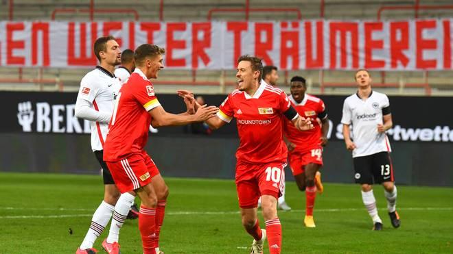 Max Kruse erzielte zwei Treffer für den 1. FC Union Berlin beim Remis gegen Eintracht Frankfurt