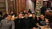 Manuel Akanji, Julian Weigl, Mo Dahoud, Achraf Hakimi und Paco Alcácer (v.l.) auf der BVB-Weihnachtsfeier