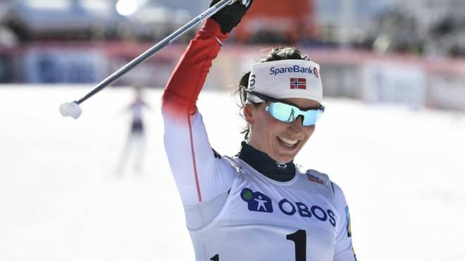 Marit Björgen läuft nach drei Jahren Pause auf Rang zwei