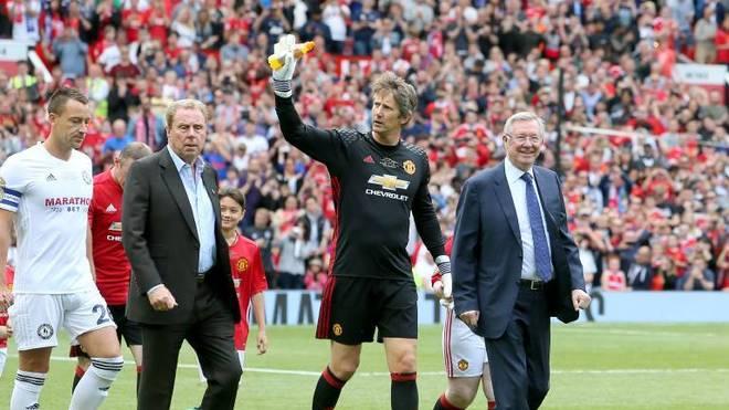 Edwin van der Sar bei einem Legendenspiel für Manchester United