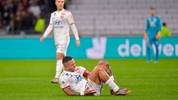 Lyon's Dutch forward Memphis Depay reacts in pain during the French L1 football match between Lyon (OL) and Rennes (SR) on December 15, 2019, at the Groupama Stadium in Decines-Charpieu, near Lyon. (Photo by ROMAIN LAFABREGUE / AFP) (Photo by ROMAIN LAFABREGUE/AFP via Getty Images)