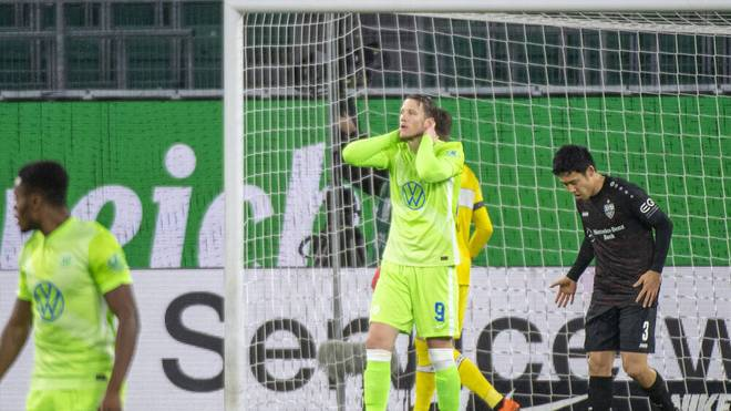 Der sonst so treffsichere Wout Weghorst ging gegen Stuttgart leer aus