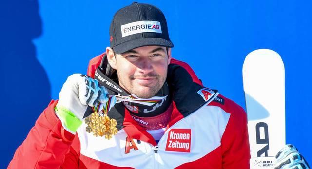 Vincent Kriechmayr gewann nach seinem Triumph im Super-G auch in der Abfahrt WM-Gold