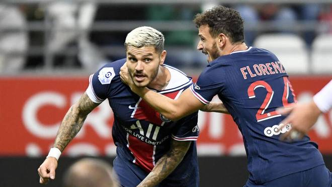 Mauri Icardi (l.) traf doppelt gegen Stade Reims