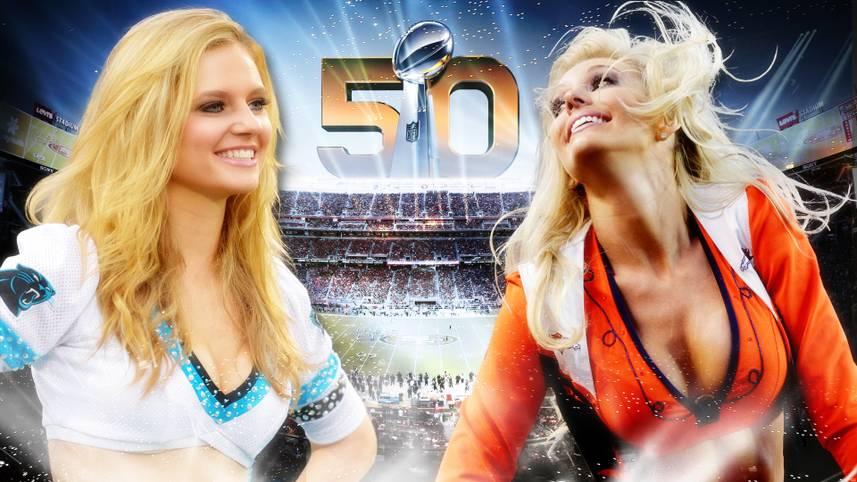 Bei der 50. Ausgabe des Super Bowl stehen sich am Sonntag die Carolina Panthers und die Denver Broncos gegenüber. Wie immer ist das Duell nicht nur ein sportliches Highlight, sondern auch drumherum ein riesiges Spektakel. Auch die Cheerleader beider Teams werden alles geben