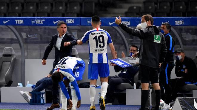 Vedad Ibisevic und Bruno Labbadia - das passt auch bei der Hertha