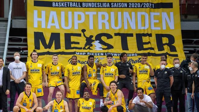 Die MHP Riesen Ludwigsburg sind Hauptrundenmeister in der easycredit BBL