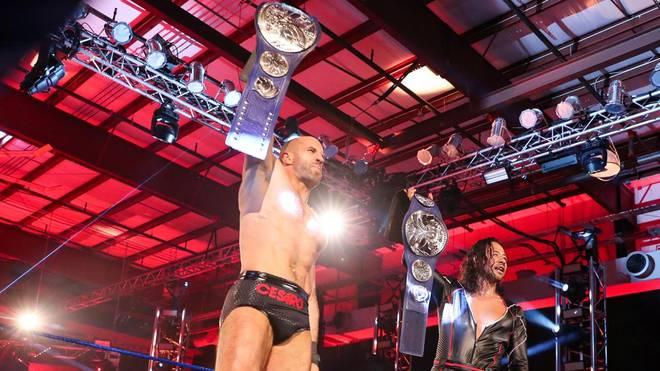 Cesaro (l.) und Shinsuke Nakamura setzten bei WWE SmackDown ein Ausrufezeichen