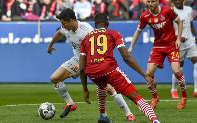 Robert Lewandowski (l.) erzielte in beiden Duellen mit Köln in dieser Saison insgesamt drei Tore