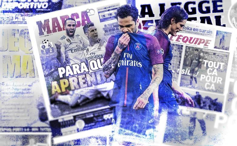 Wieder einmal platzen die Champions-League-Träume von Paris Saint-Germain frühzeitig. Nach dem Achtelfinal-Aus gegen Real Madrid hagelt es Spott und harsche Kritik an der Ausrichtung des Scheich-Klubs. SPORT1 zeigt die internationalen Pressestimmen