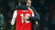 Mikel Arteta baut im Mittelfeld auf Mesut Özil
