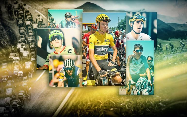 Die 104. Tour de France wird in der Schlusswoche zu einem Thriller. Titelverteidiger Christopher Froome ist auch wegen der Stärke seines Teams Sky nach wie vor der Favorit, aber insgesamt sechs Fahrer liegen im Gesamtklassement an der Spitze innerhalb von 1:17 Minuten