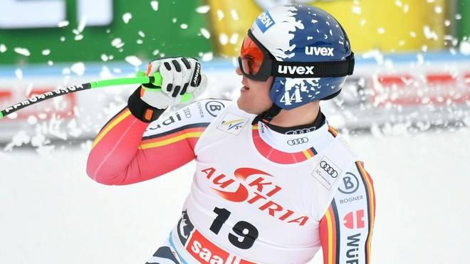 Thomas Dreßen hat beim Super-G einen starken dritten Platz eingefahren