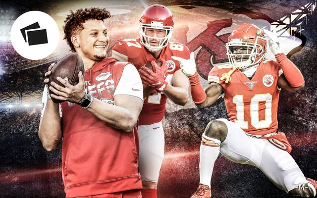 Die Kansas City Chiefs um Quarterback Patrick Mahomes (l.) wollen in den Super Bowl
