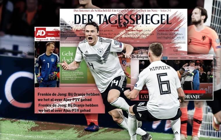 Das DFB-Team lässt seine Kritiker verstummen. Deutschland besiegt die Nationalmannschaft der Niederlande in Amsterdam dank eines späten Siegtreffers von Nico Schulz mit 3:2. Von Euphorie für Deutschland bis Anerkennung für Oranje: die internationalen Pressestimmen