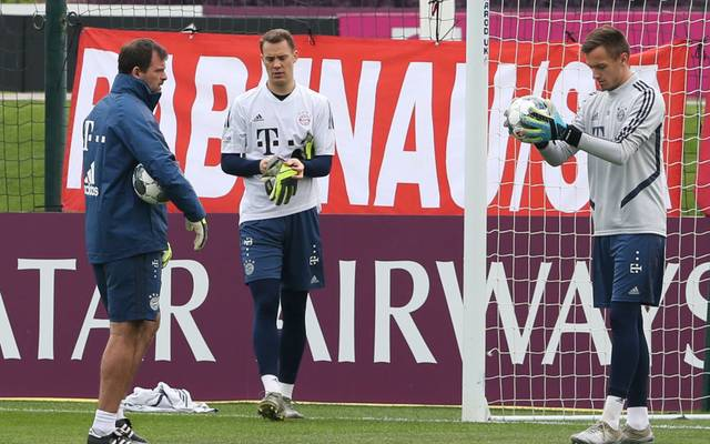 Toni Tapalovic (l.) im Training mit Manuel Neuer und Christian Früchtl