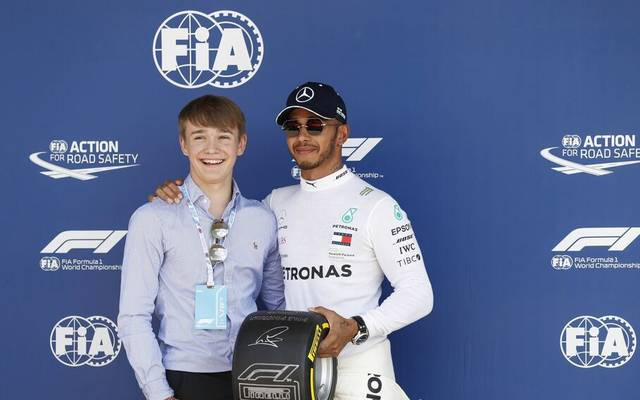 Billy Monger (l.) traf Lewis Hamilton im Sommer 2018