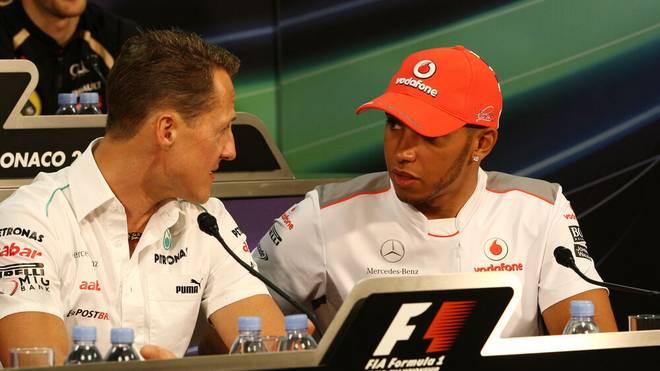 Michael Schumacher und Lewis Hamilton gehören zu den schnellsten F1-Fahrern aller Zeiten