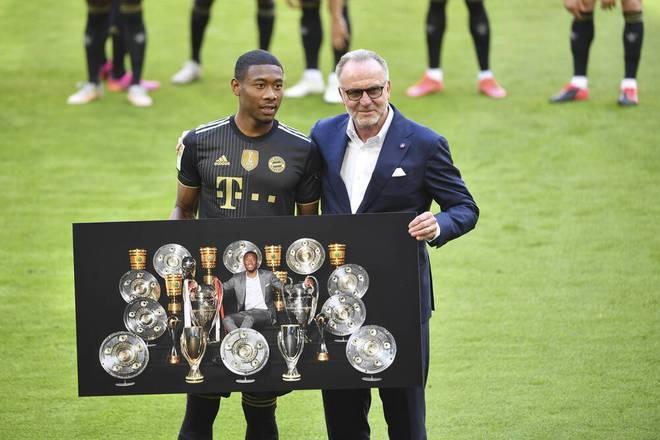 David Alaba wird beim FC Bayern verabschiedet