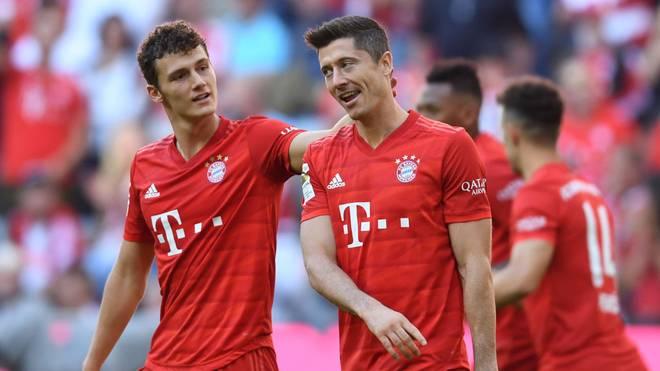 Im Hinspiel siegten die Bayern 4:0 gegen Köln - Robert Lewandowski traf zweimal