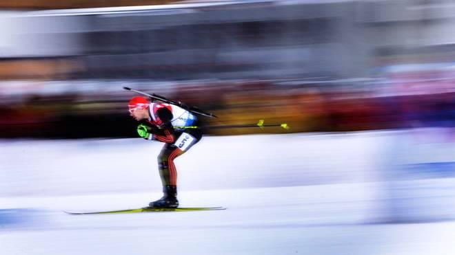 Johannes Kühn durfte sich in Oberhof über Rang drei freuen