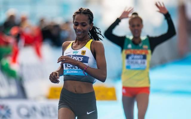 Melat Kejeta überquerte bei der Halbmarathon-WM in Polen als Zweite die Ziellinie