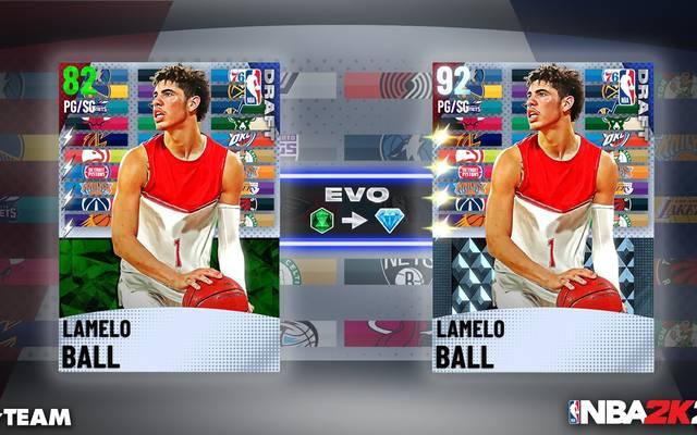 LaMelo Ball wird einer der neuen Rookie-Evo-Karten sein, die ab heute im MyTeam-Modus verfügbar sind