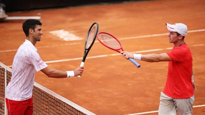 Erst im Viertelfinale ist für Dominik Koepfer gegen Novak Djokovic Schluss bei den ATP-Masters in Rom