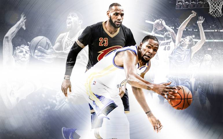 """Zum vierten Mal in Folge trifft LeBron James mit seinen Cleveland Cavaliers in den NBA Finals auf das Starensemble der Golden State Warriors. Nur einmal setzte sich der """"King"""" bisher durch. Es werden wieder heiße Duelle. SPORT1 zeigt die 10 größten Finals-Rivalitäten in einem Ranking"""