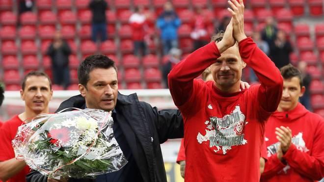 Christian Heidel (l.) und Bo Svensson könnten zu Mainz 05 zurückkehren