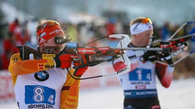 Benedikt Doll ist mit der deutschen Staffel Dritter in Oberhof geworden
