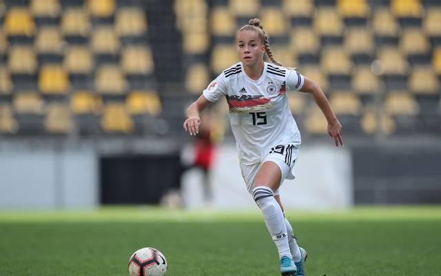 Giulia Gwinn möchte mit den Bayern-Frauen in der Allianz Arena spielen